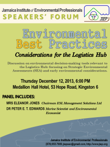 JIEPSpeakersForum_Dec2013_EnvironmentalBestPractices